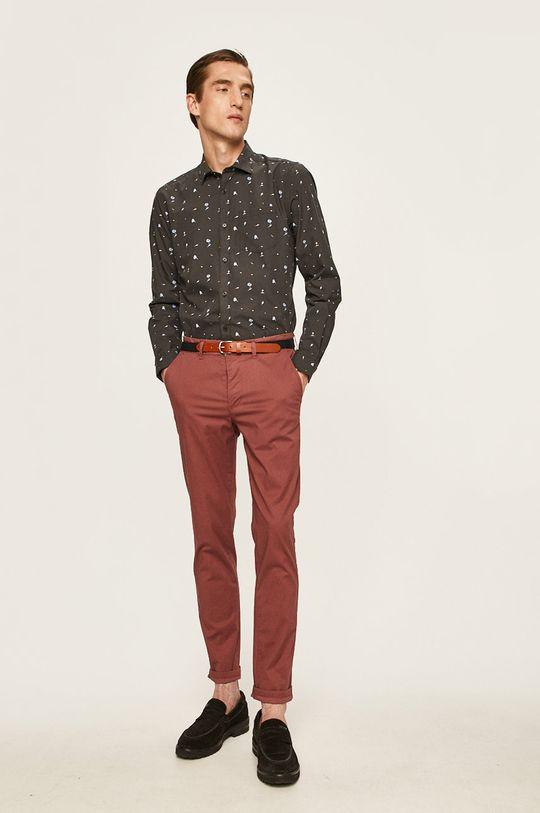 Selected - Spodnie fiołkowo różowy