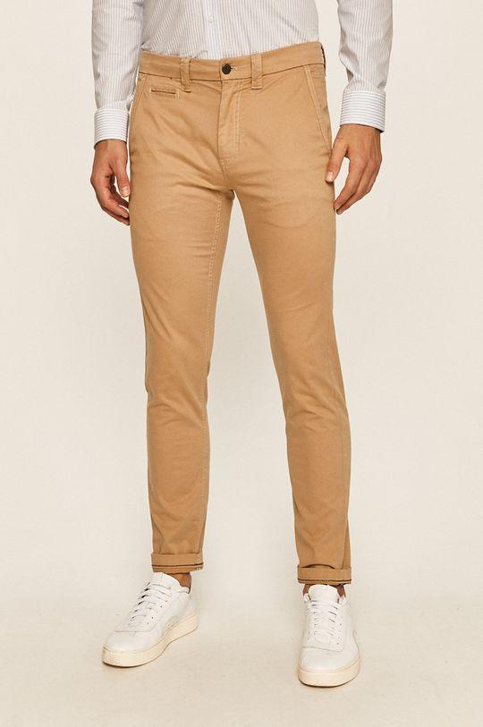 béžová Calvin Klein Jeans - Kalhoty Pánský
