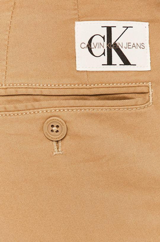 béžová Calvin Klein Jeans - Kalhoty