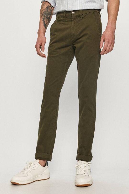 oliwkowy Calvin Klein Jeans - Spodnie Męski