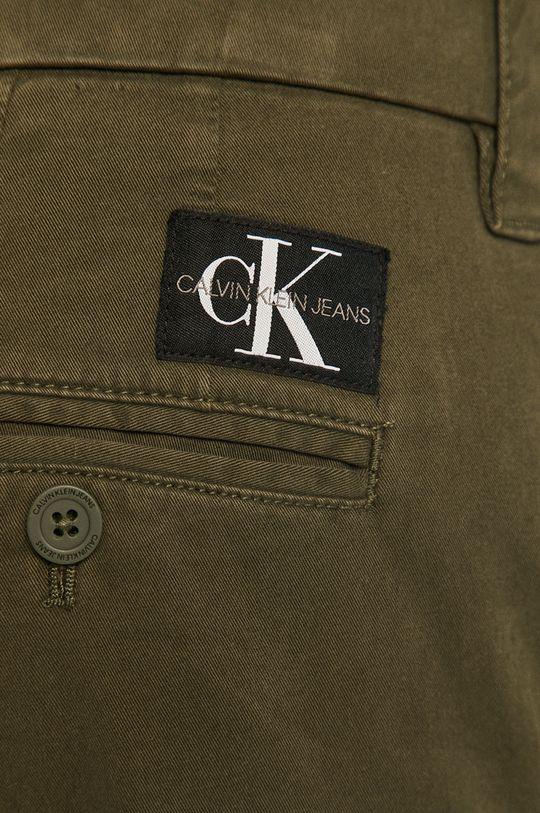 oliwkowy Calvin Klein Jeans - Spodnie