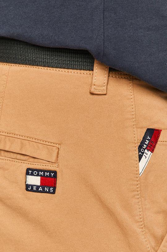 kávová Tommy Jeans - Nohavice