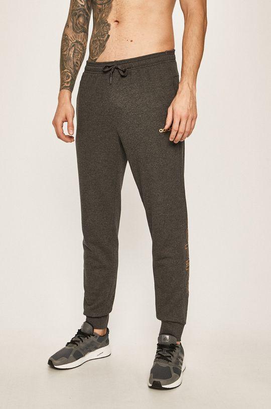 světle šedá adidas - Kalhoty Pánský