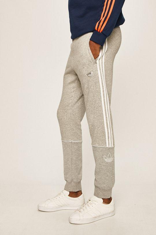 světle šedá adidas Originals - Kalhoty Pánský