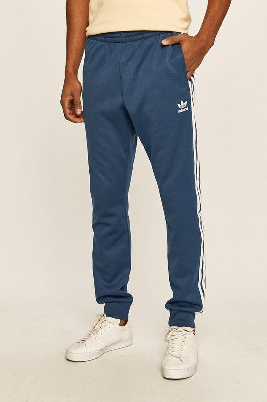 ocelová modrá adidas Originals - Kalhoty Pánský