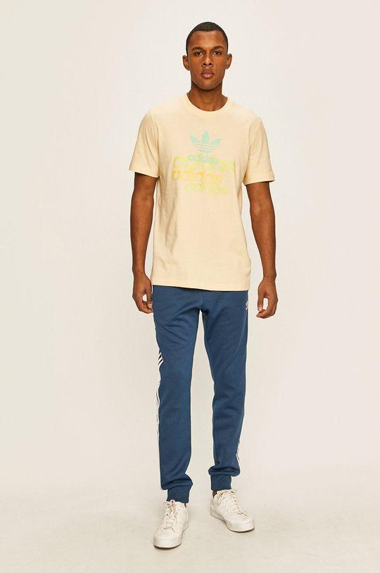 adidas Originals - Kalhoty ocelová modrá
