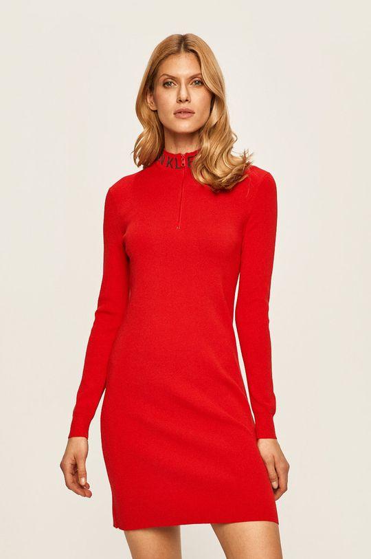 červená Calvin Klein Jeans - Šaty Dámský