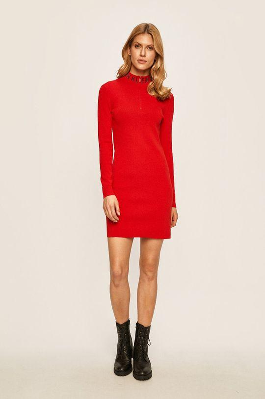 Calvin Klein Jeans - Rochie rosu