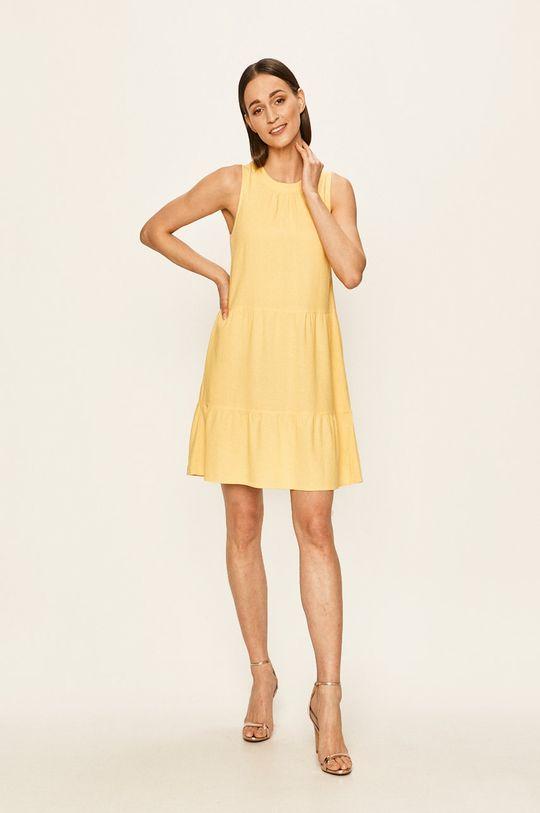 Vero Moda - Sukienka żółty