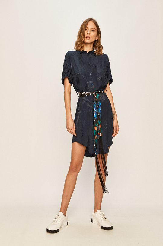 Desigual - Šaty tmavomodrá