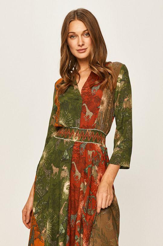 olivová Desigual - Šaty