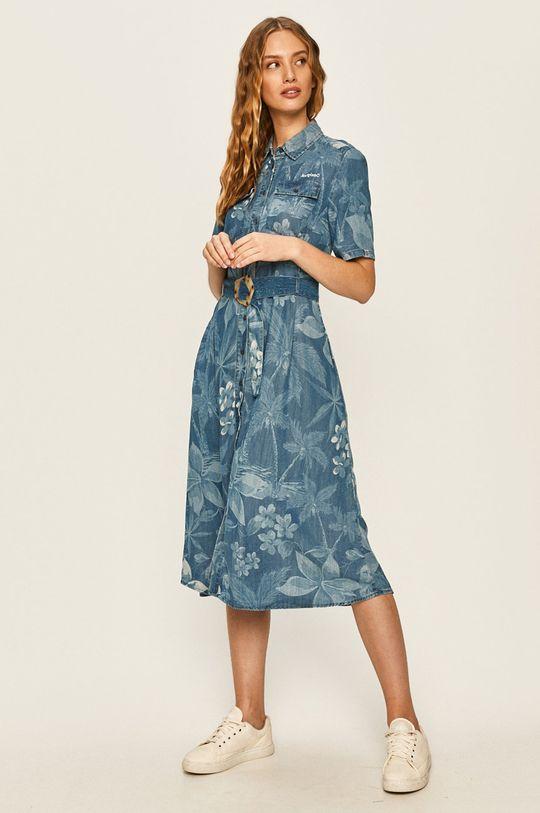Desigual - Šaty světle modrá