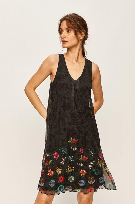 čierna Desigual - Šaty Dámsky