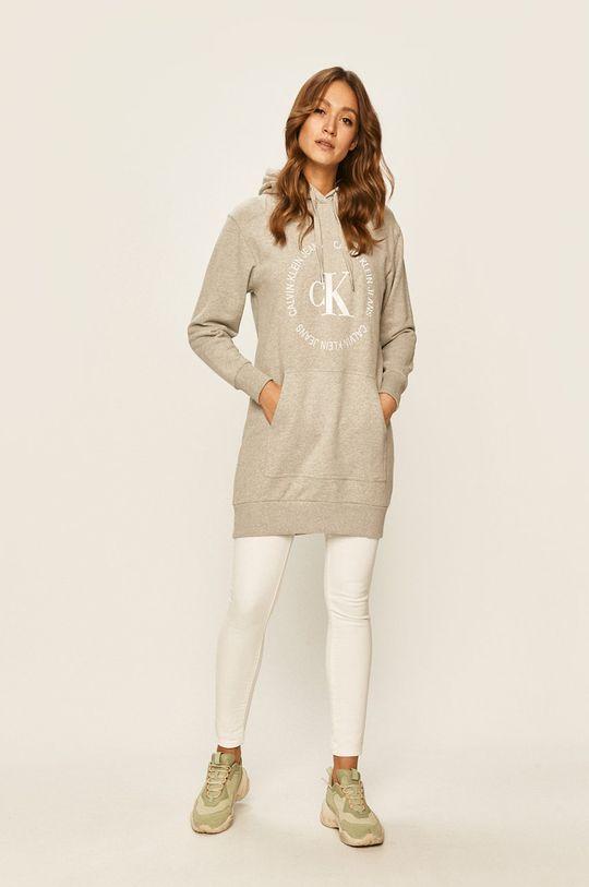 Calvin Klein Jeans - Šaty světle šedá