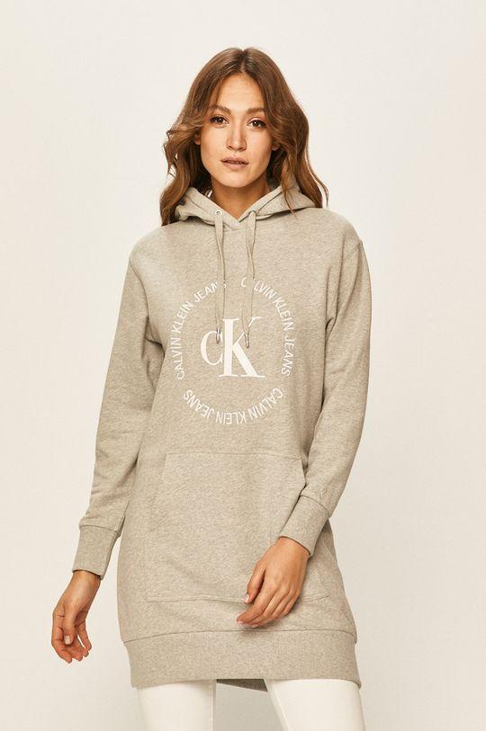 světle šedá Calvin Klein Jeans - Šaty