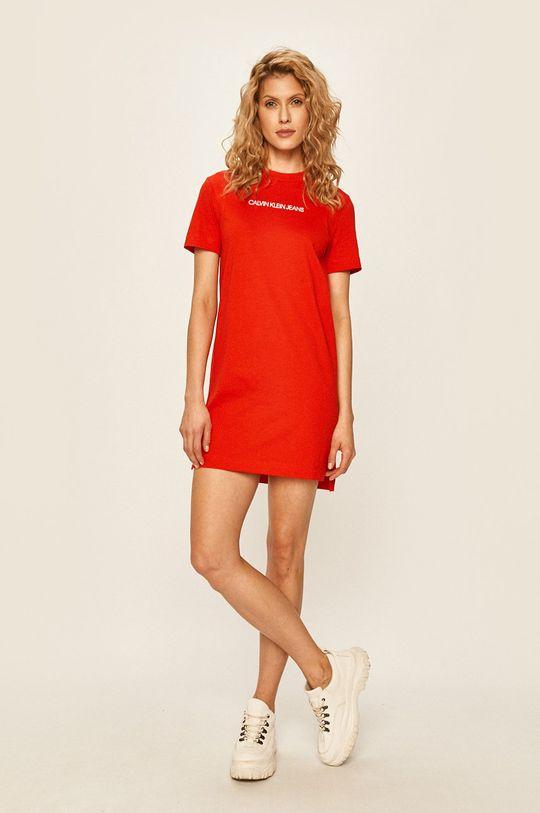 Calvin Klein Jeans - Šaty červená