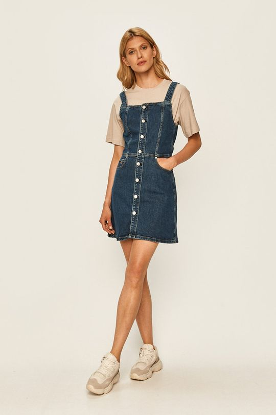 Calvin Klein Jeans - Sukienka jeansowa granatowy