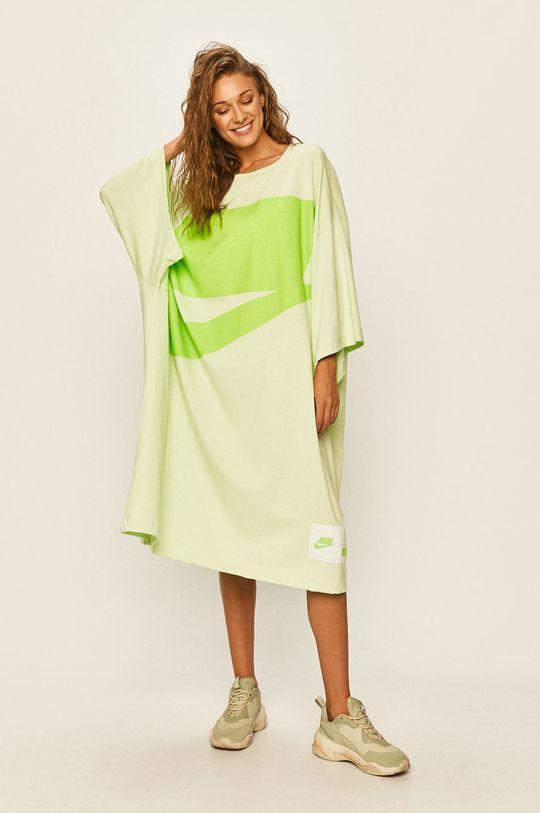 světle zelená Nike Sportswear - Šaty