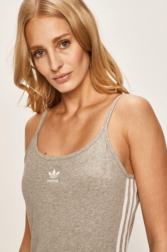 světle šedá adidas Originals - Šaty