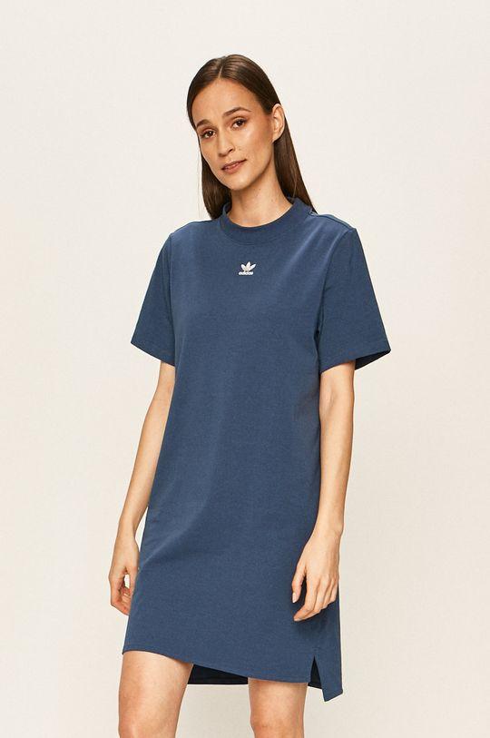 ocelová modrá adidas Originals - Šaty Dámský