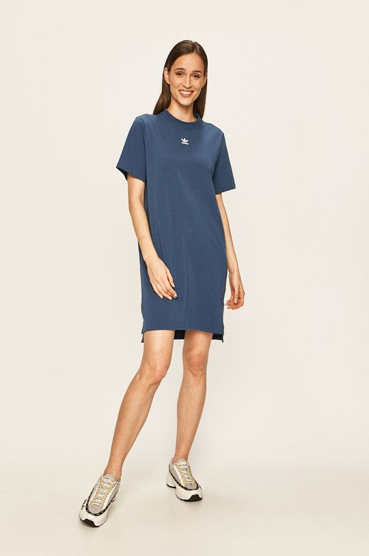 adidas Originals - Šaty ocelová modrá