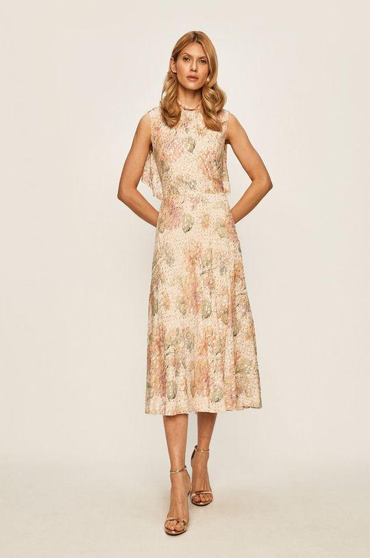 Red Valentino - Sukienka Podszewka: 100 % Poliester, Materiał zasadniczy: 88 % Wiskoza, 12 % Włókno metaliczne