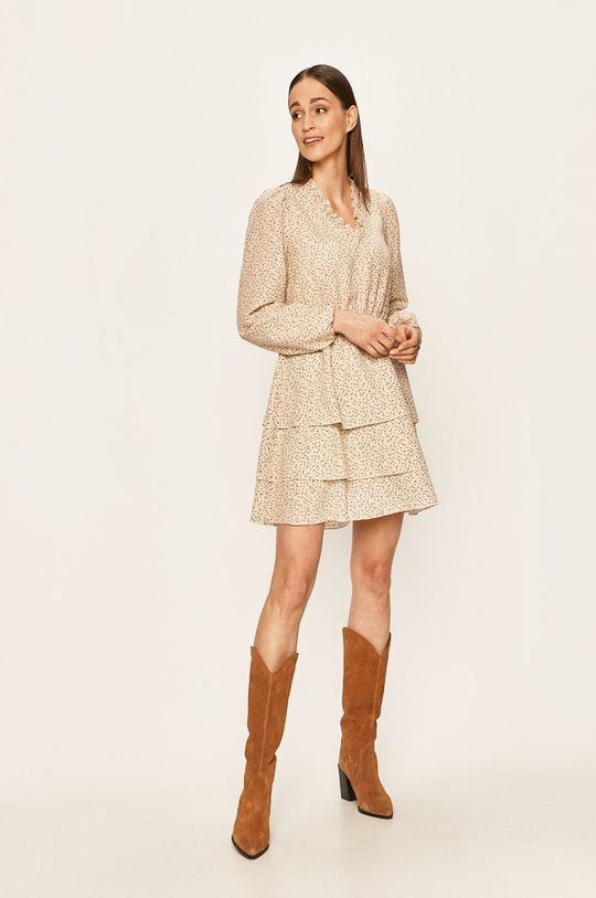 Vero Moda - Sukienka kremowy