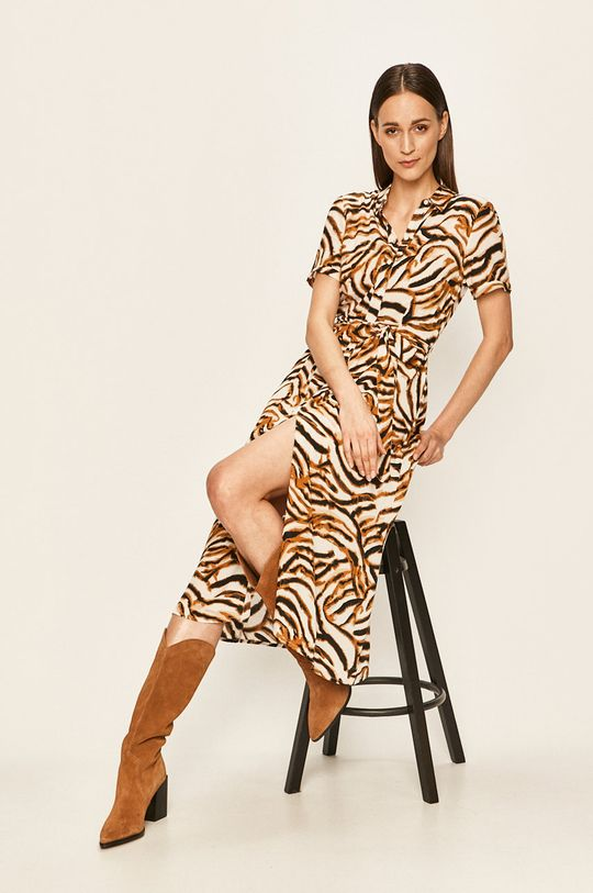 Vero Moda - Sukienka kawowy