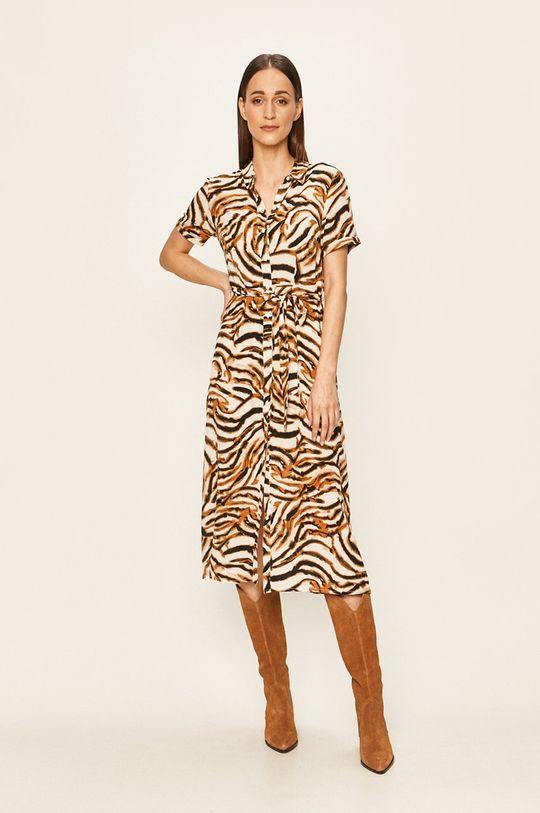 kawowy Vero Moda - Sukienka
