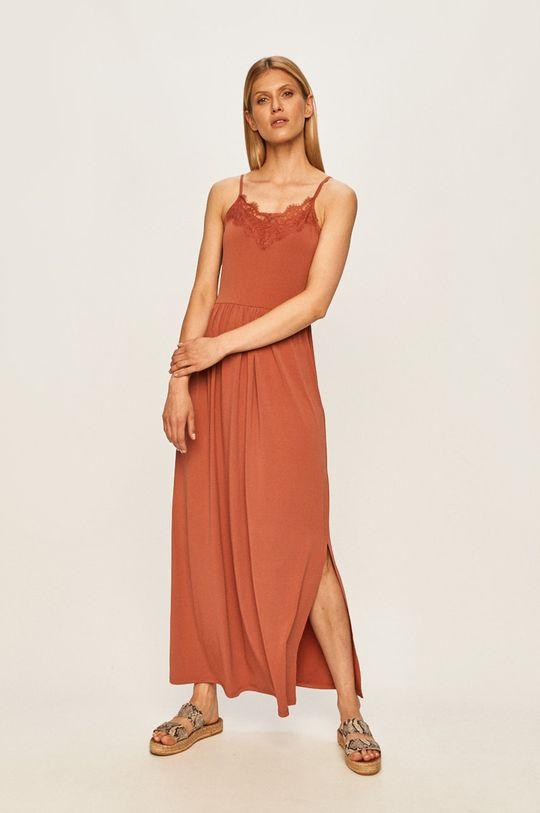 Vero Moda - Šaty staroružová