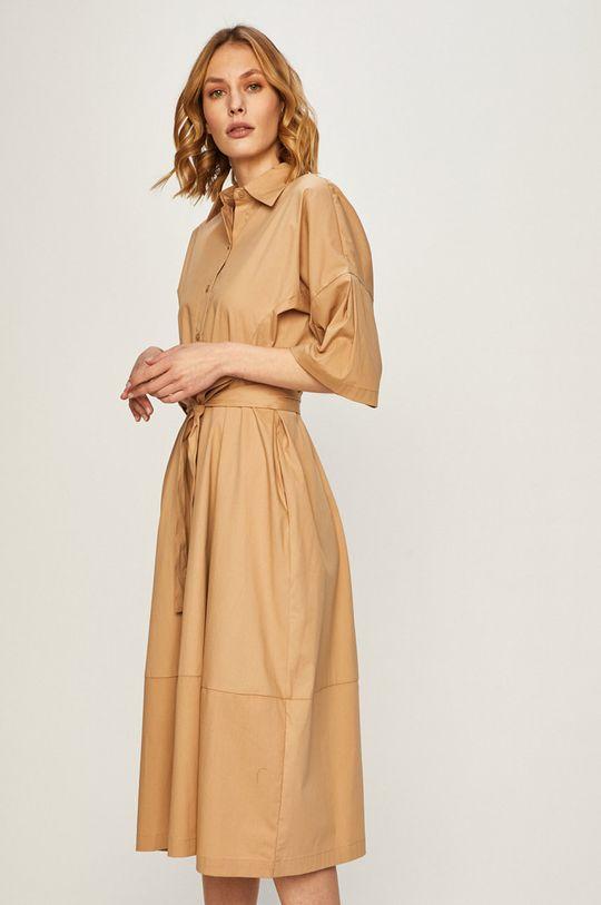 Dkny - Sukienka brązowy