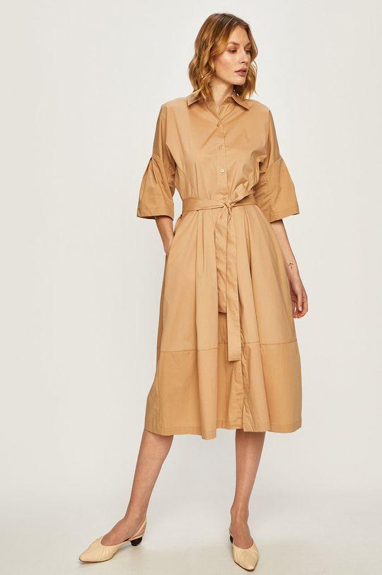 brązowy Dkny - Sukienka