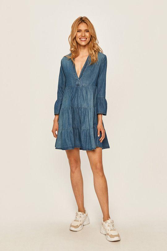 Jacqueline de Yong - Rifľové šaty modrá