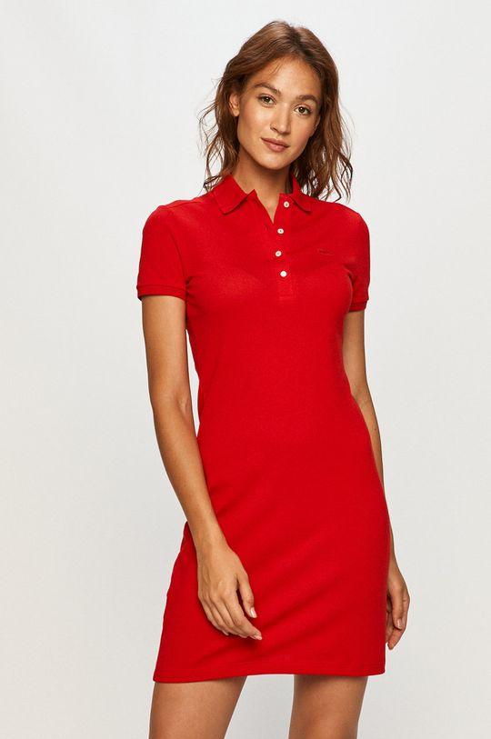 czerwony Lacoste - EF5473 Damski