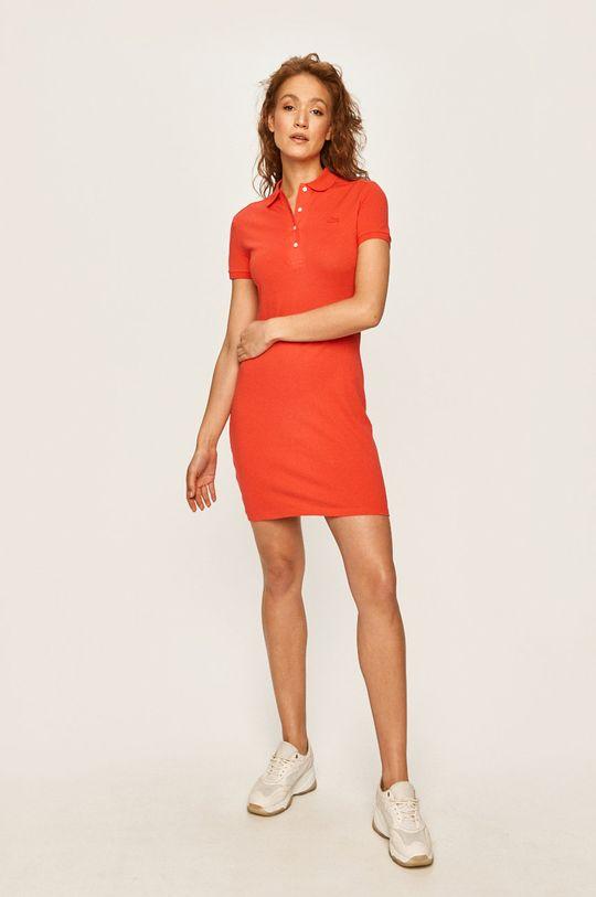 Lacoste - Šaty červená