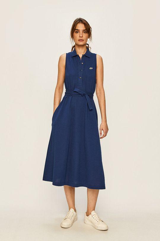 Lacoste - Šaty tmavomodrá