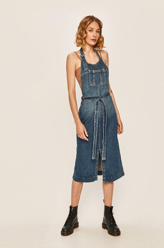 Pepe Jeans - Džínové šaty Kate x Dua Lipa modrá