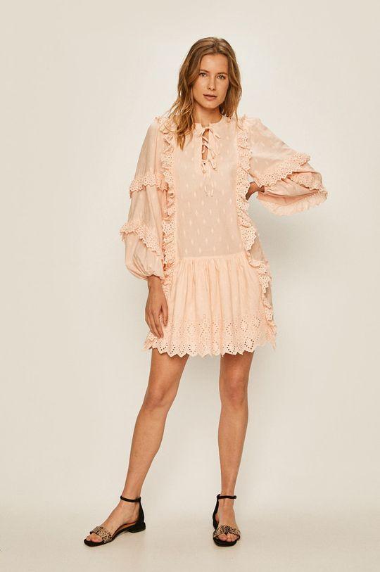 Pepe Jeans - Rochie Zephyr roz murdar