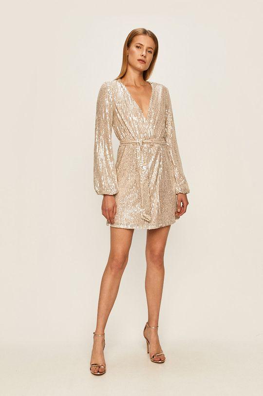 Glamorous - Šaty stříbrná