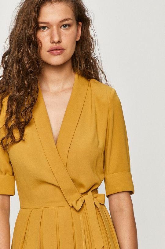 žlto-zelená Only - Šaty