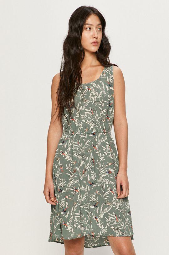 Only - Šaty oceľová zelená