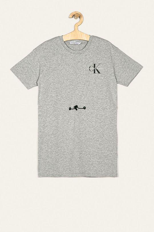 svetlosivá Calvin Klein Jeans - Dievčenské šaty 116-176 cm Dievčenský