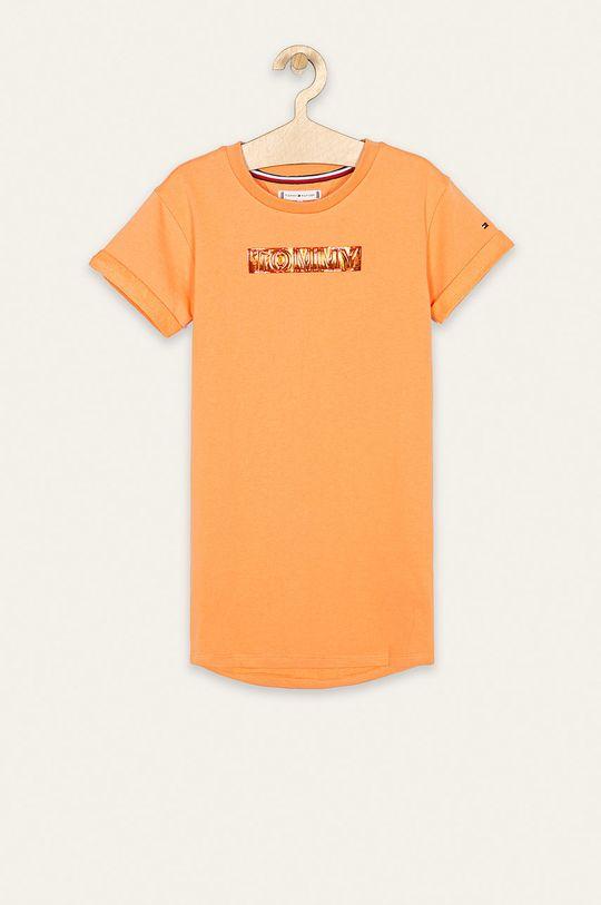 jasny pomarańczowy Tommy Hilfiger - Sukienka dziecięca 128-176 cm Dziewczęcy