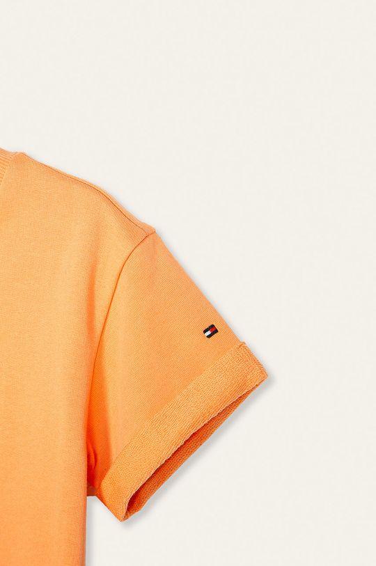 Tommy Hilfiger - Sukienka dziecięca 128-176 cm jasny pomarańczowy