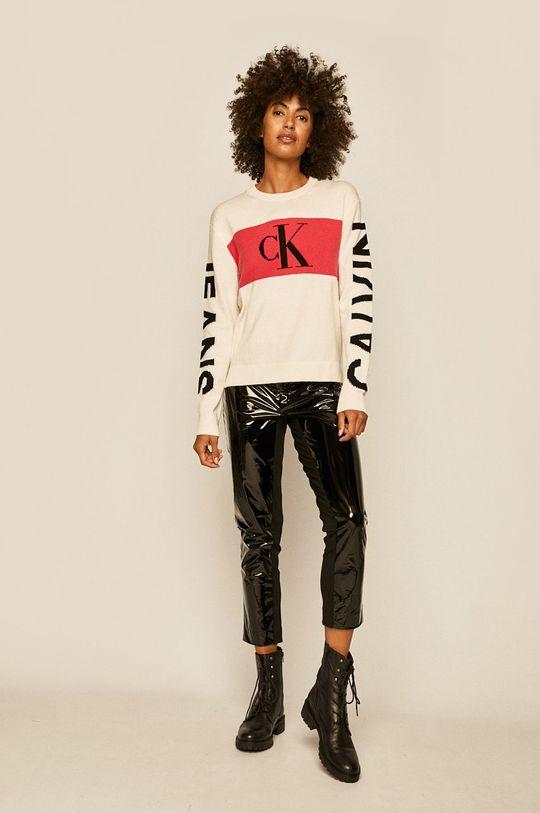Calvin Klein Jeans - Pulover alb