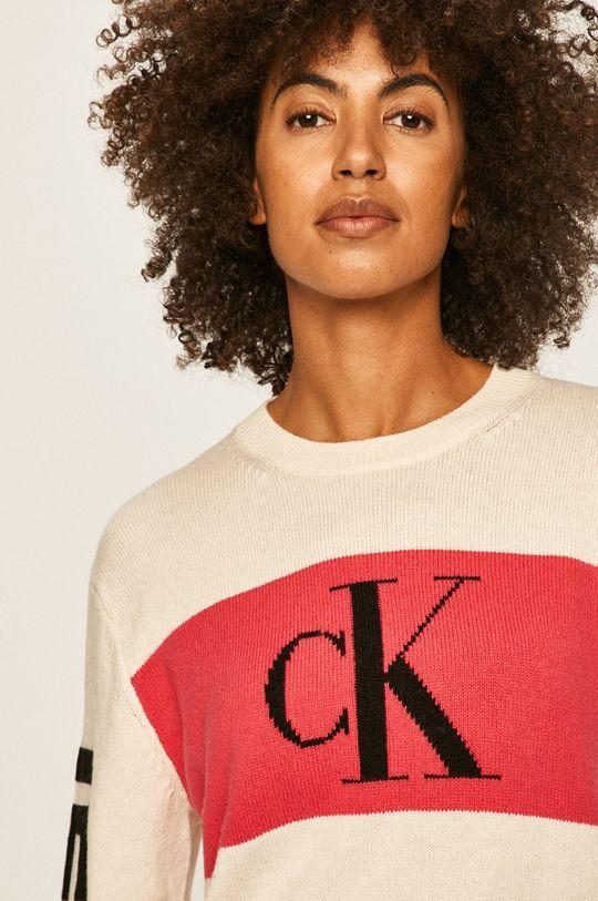 alb Calvin Klein Jeans - Pulover