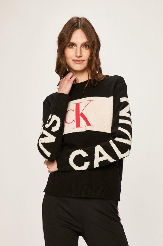 Calvin Klein Jeans - Pulover 21% Bumbac, 24% Poliamida, 55% Lana
