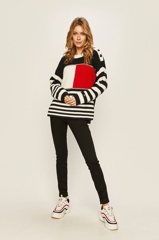 Tommy Hilfiger - Pulover Tommy Icons multicolor