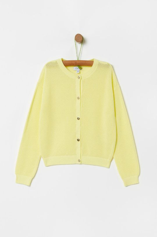 żółto - zielony OVS - Kardigan dziecięcy 104-140 cm Dziewczęcy