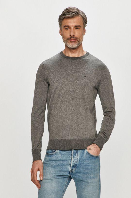 szary Calvin Klein - Sweter K10K104920 Męski